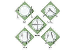 Proper table etiquette instructions how to place cutlery