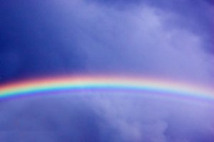 Sky with beautiful rainbow