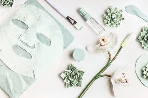 Skin care with facial sheet mask