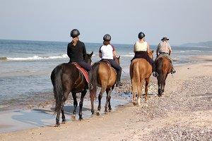 Beach horse-riding