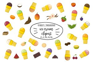 Cartoon Summer Ice Cream Clipart