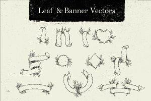 Leaf & Banner Vectors