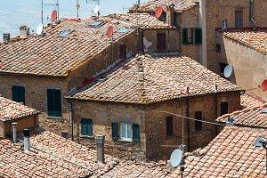 Volterra town scene, Tuscany, Italy