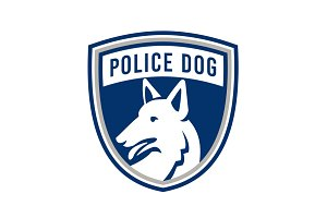 Police Dog Shield Mascot