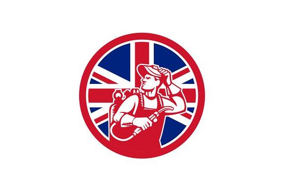British Lit Operator Union Jack Flag