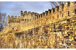 Ancient fortress wall in Baku old town