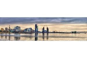 View of Baku by the Caspian Sea