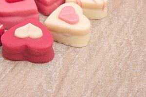 Heart shaped petit fours