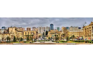 Panorama of Baku from Winter Park