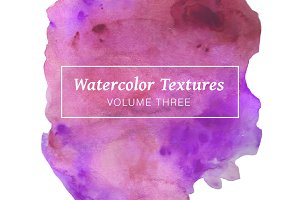 Purple Watercolor Textures Volume 3