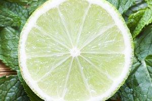 round lime slice