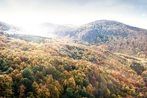 Mountains in Slovakia: Beautiful landscape in autumn. Colorful f
