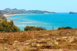 Summer sea beach in Sicily, Italy