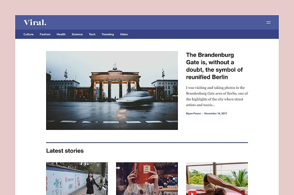 Viral Grid-Based Magazine Theme