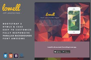 Lowell - App Landing Page