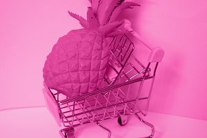 Shopping cart Trolley with pineapple