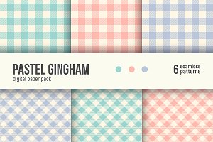 PASTEL GINGHAM digital paper pack