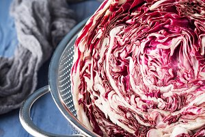 Radicchio red chicory closeup