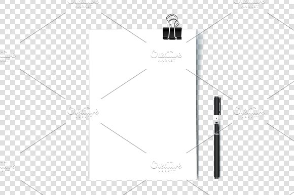 A4 Paper Blank With Binder Clip