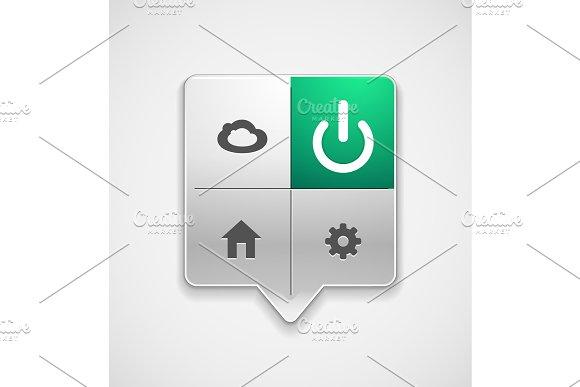Start Power Button Ui Icon Design On Off Symbol