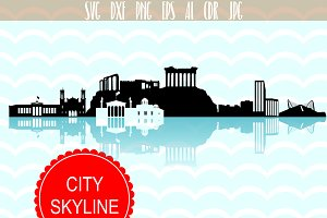 Athens Skyline SVG Greece city