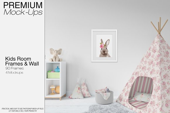 Download Kids Wigwam, Pouf, Wall & Frames Set