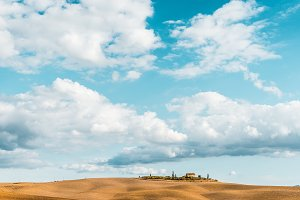 Tuscan Landscape After Harvest, Val