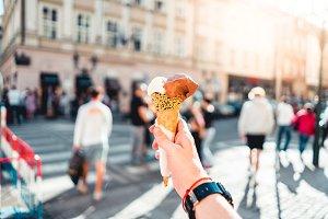 Ice Cream in Hand