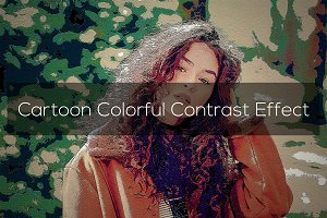 Cartoon Colorful Contrast Effect