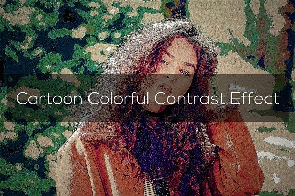 Cartoon Colorful Contrast Effect