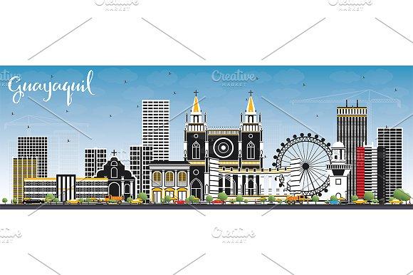 Guayaquil Ecuador City Skyline