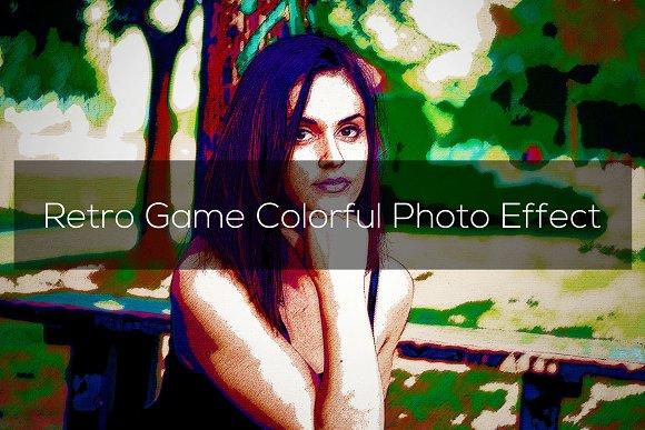 Retro Game Colorful Photo Effect
