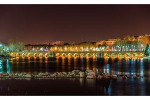 Joubi Bridge on the Zayanderud river in Isfahan - Iran