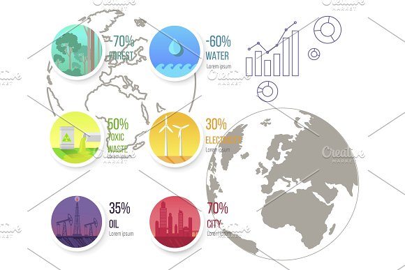 Infographic Poster With Ecological Problems