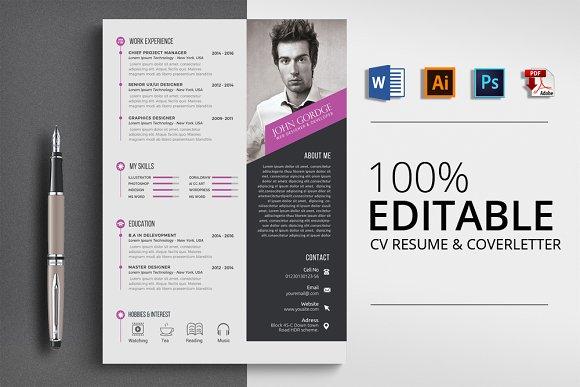 Word Format CV Resume Template