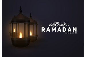 Vector Ramadan greeting card.