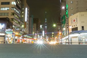 TOKYO city in Japan at night.