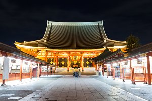 Sensoji a famous ancient temple in A