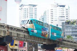 Monorail sky train in  Kualalumper,