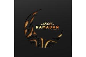 Ramadan vector background.