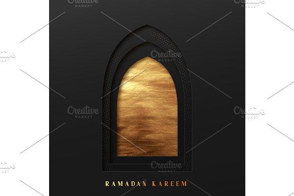 Arabic Window Design Ramadan Kareem Greeting Card