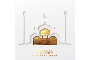 Ramadan vector background.