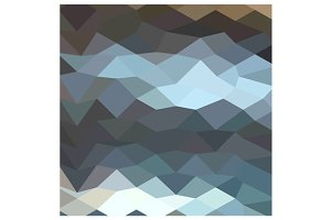Aquamarine Surf Abstract Low Polygon