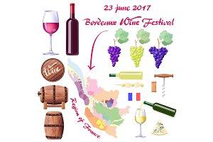 Bordeaux Wine Festival on 23 June 2017 Poster