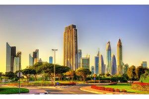 View of skyscrapers in Downtown Dubai - UAE