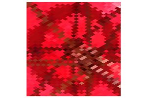 Carmine Red Star Abstract Low Polygo