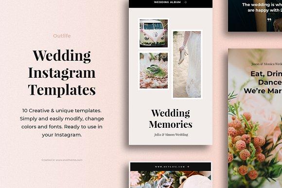 Outlife Wedding Instagram Templates