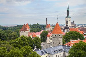 medieval city of Tallinn, Estonia