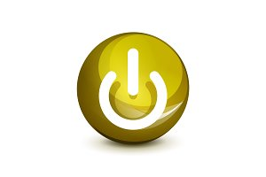 Power button icon, start symbol
