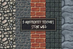 5 handpainted highres stone texture